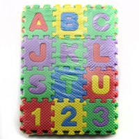 wholesale 36pcs 6606cm developing crawling rugsbaby play puzzle number letter eva soft foam mat pad floor for baby educational toys
