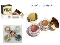 Новейшие Дженнер Косметика Медь Creme Eye Kyshadow Kylie День рождения Выпуск 5 цветов Медь / розовое золото / высокий свет / черный / коричневый Свободный корабль