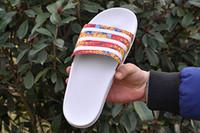 2016 Summer men flip flops high quality brand leather slippe...