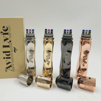 AV Twistgyre Kit de démarrage Mod 4 couleurs AV Gyre style Manhattan Slow-Twist mécanique Mod Vaporisateur 18650 Batterie Tube DIY Ecigarette