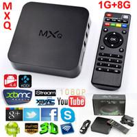 Quad Core MXQ Smart TV Box Android 4.4 Amlogic S805 KODI 15.2 Fully Loaded Media Player Update MXQ TV Box 1080P HDMI WiFi телеприставок