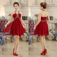 Amazing Sexy Short Red Homecoming Dresses Beaded A Line Halt...