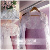 Bolero Wedding Bridal Wraps Lace Style Beads Sequins Long Sl...