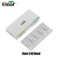Authentique Eleaf EC tête en céramique 0.3 / 0.5ohm ECL 0,18 / 0.3ohm bobines doubles pour iJust S 2 Melo Atomiseurs