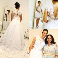 Vintage Ball Gown Wedding Dresses High Neck Sleeveless Long ...