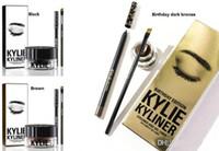 KYLIE kit eyeliner cosmétiques kylie kyliner ensemble marron et noir / kylie kit anniversaire édition bronze foncé set