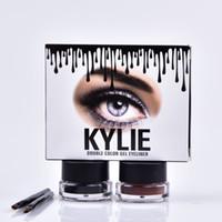 Kylie Jenner Eyeliner Gel Maquillage imperméable Eye Liner Gel Cosmétique maquillage Noir Marron 2 Couleurs MR225