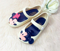 Mini Melissa Minnie Jelly Mickey Shoes Baby Girl Cartoon Cut...