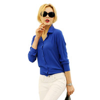 Women Blouses Direct Selling Button Solid 2016 Autumn women ...