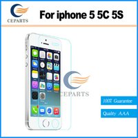 Pour iPhone 5G 5C 5S 2.5D 9H Film protecteur d'écran en verre trempé de qualité supérieure anti-rayures Protection contre l'explosion