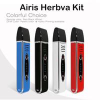 Аутентичные Airis Herbva комплекты 2200mAh E Сигареты сухой травы Испарители Керамическая камера чистый вкус смарт-сенсорный экран