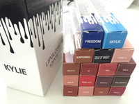 24pcs В наличии 17 цветов Кайли Lip Kit от Дженнер Velvetine Liquid Матовая губная помада Блеск для губ 17 цвета высокого качества и бесплатной доставкой