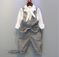 England Style Girls Bowknot Suspender Trousers Swallow Gird ...
