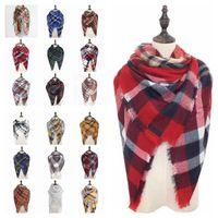 Women' s Plaid Scarf Tartan Scarf Plaid Blanket Scarves ...