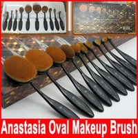 Ana Oval Foundation Toothbrush Brush Set Makeup Brushes Blen...