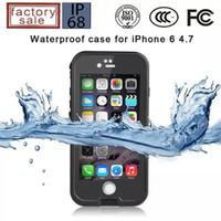2016 Etui étanche de bonne qualité de l'eau de la qualité pour le fre 6S de l'iPhone 6 cas imperméable à l'eau avec l'emballage de détail 6 couleurs