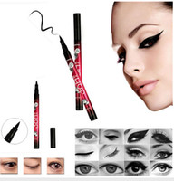 2016 New Eyeliner Maquillage Yanqina Eyeliner imperméable à l'eau Liquid Eye Eye Liner 36h 0.1mm Non Blooming Longue durée Easy Dry DHL free