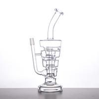 Sundae Stacks Glass Bong Water Pipe 4 Chambres Filtre 265mm Hauteur Tout Verre Clair Avec Clou Dôme S07