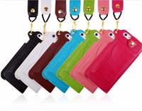 Para Iphone 6 más las cajas de la caja del cuero del teléfono celular de cubierta de la carpeta bolso de la bolsa con el sostenedor de la ranura para tarjeta para el iPhone 6