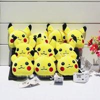 3. 2 Inch Poke Pikachu Plush dolls Keychain toys EMS 8cm chil...