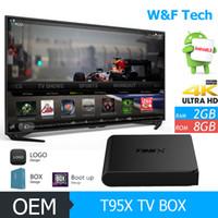 T95X Android 6. 0 Marshmallow Android TV Box BT 4. 0 Custom KO...