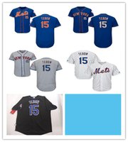 New New York Mets Jersey Mens 15 Tim Tebow Embroidery logo C...