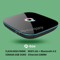 Quad Core S905X chipest 2GB 8GB Q- box Andorid 6. 0 TV BOX sup...