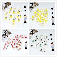 15 Style Fruits Print Infant Baby Romper Long Sleeve Cartoon...