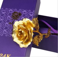 Creative Birthday Wedding Gift 24k Manual Golden Rose for Wo...