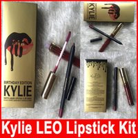 Kylie Birthday LEO color Kylie Lip Kit by kylie Jenner Lipst...