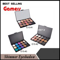 Professional 15 Color Nude Smoked Pearl Eyeshadow Shimmer Ey...