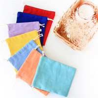 2016 Assorted Colors Canvas Drawstring Bags 100% Plain Cotto...
