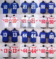 Mens Elite Giants Jerseys 13 Odell Beckham Jr. 10 Eli Mannin...