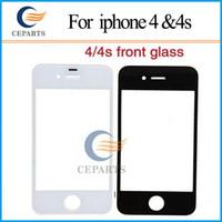 Pour Apple pour iPhone 4 4S écran de verre verre de remplacement réparation avec OCA adhensive + verre à écran tactile pour iPhone 4 4s verre extérieur