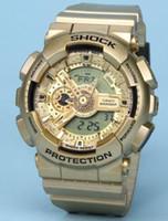 Novo original cores Mens Casual G relógios esporte levou impermeável Lady S Shock GA110 Assista com caixa