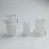 mini-verre adaptateur 10mm femelle 14mm mâle 14mm femelle 18mm mâle deux styles forsted verre bouche sur l'adaptateur de verre