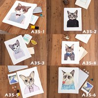 Printed Cats Canvas Clutch Bag Purse Handbag File Pocket Coi...