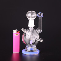 New Planet conçu Bong Oil Rigs Inline Filter Clear Ring Pipe d'eau de haute qualité 14.5mm Joint de verre BestGlass G41