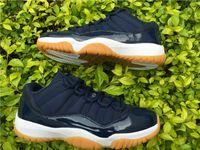 2016 Retro 11 11s XI man Basketball Shoes low Navy Gum Blue ...