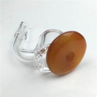 4mm d'épaisseur bouchon de carb banger de quartz clair clou banger de quartz avec 10mm 14mm 18mm femelle mâle nouveau bouchon joint de carb de style