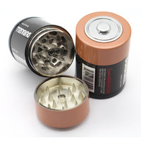 Новая батарея Измельчители Измельчители Табачные изделия из металла 42мм диаметр Grinder высокого качества сигарет Херб специй дробилка VS Sharpstone измельчители