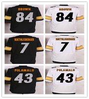 2016 Elite Steelers Mens Football Jerseys 43 POLAMALU 7 Roet...