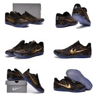 (With shoes Box) Hot Sale Kobe Bryant 11 EM Fade to Black Ma...