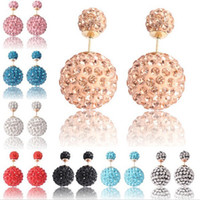 2016 NEW Crystal Ball Ear stud Earring Rhinestone