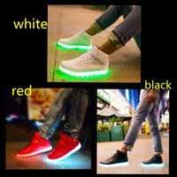 2016 Top LED Shoes light colorful Flashing Shoes with USB Ch...
