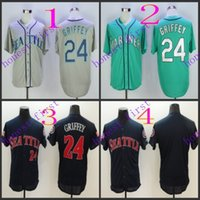 seattle mariners #24 ken griffey 2016 Jerseys Authentic Stit...