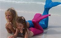 8 Color Girls Mermaid Bikini Kids Costume Swimwear Mermaid T...