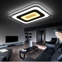 Диммируемый свет подвеска Светодиодный потолочный светильник Акриловые декоративные абажур подвесной светильник с управлением Romote затемняя функция # 10