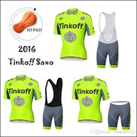 2016 Tinkoff Saxo Fluo Yellow Cycling Jerseys Set Short Slee...
