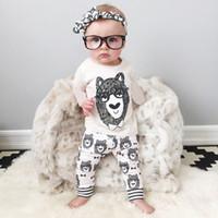 2016 boys and girls cotton suit children' s little monst...